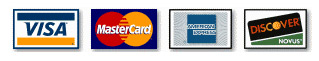 We accept credit cards payments with MasterCard, Visa, Discover, American Express